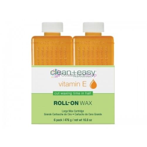 Clean+Easy- Vitamin E Wax Refill 6x80 gr.